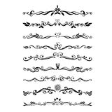 Retro style set of ornate floral patterns template Royalty Free Stock Photos