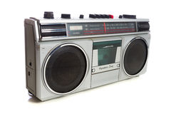 Retro Style Silver Boom Box Royalty Free Stock Photography
