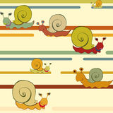 Retro style snail background. Background with a crawling snail in a retro style royalty free illustration