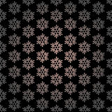 Retro style snowflake seamless pattern background Royalty Free Stock Photography