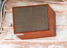 Retro style speaker box Stock Image