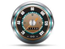 Retro style speedometer Royalty Free Stock Photo
