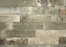 Retro style stoneware floor with weathered and worn wood effect royalty free stock image