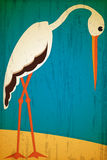 Retro style stork Stock Photos