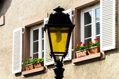 Retro style street lamp in Alsace Stock Photography