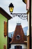 Retro style street lamp in Alsace Royalty Free Stock Photography