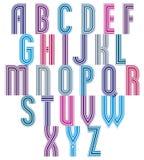 Retro style stripe trendy elegant font. Stock Photography