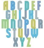 Retro style stripe trendy font. Stock Photography
