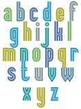 Retro style stripe trendy font. Stock Photo