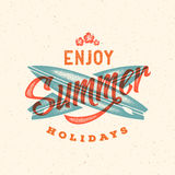 Retro Style Summer Card, Emblem, or a Logo Royalty Free Stock Photo