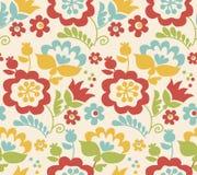 Retro style summer flower seamless pattern Stock Photos