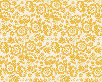 Retro style summer flower seamless pattern Royalty Free Stock Photos