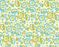 Retro style summer flower seamless pattern Royalty Free Stock Photos