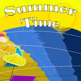 Retro Style Summer Time background Royalty Free Stock Photos