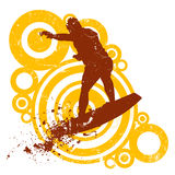Retro style surfing vector Royalty Free Stock Photography