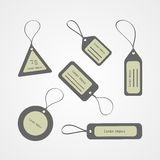 Retro style tags collection. Isolated on white background Stock Photography