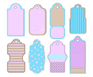 Retro style tags or labels. Vintage design elements  clipart on white background. Stock Images