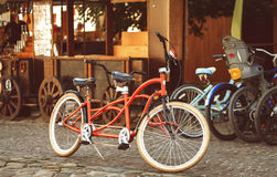 Retro-style tandem bicycle Stock Images
