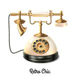 Retro style telephone Royalty Free Stock Images