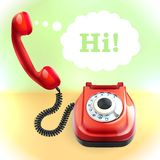 Retro style telephone background Royalty Free Stock Photo