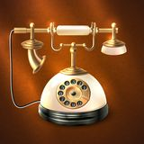 Retro style telephone Stock Images