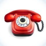 Retro style telephone color Stock Image