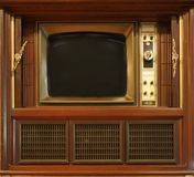 Retro Style Television Set Stock Images