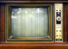 Retro Style Television Set with Bad Picture Stock Image