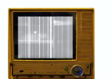 Retro Style Television Set with Picture Problems Royalty Free Stock Photography