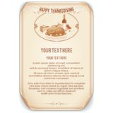 Retro Style Thanksgiving Background Royalty Free Stock Image
