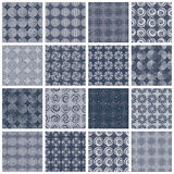 Retro style tiles seamless patterns set 2. Royalty Free Stock Images