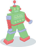 Retro style toy robot illustration Royalty Free Stock Image