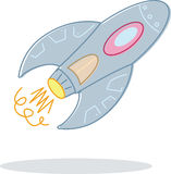 Retro style toy rocket illustration Royalty Free Stock Photo