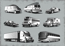 Retro Style Transport Set Royalty Free Stock Photo