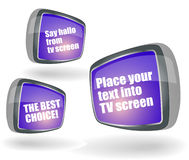 Retro style TV. With place for txt on the screen Royalty Free Stock Images