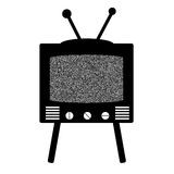 Retro style tv Stock Image