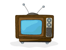 Retro style tv. Drawing over white background Stock Images