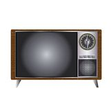 Retro Style TV Set. An old classic television set in retro style Royalty Free Stock Photos