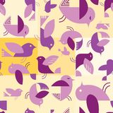 Retro style tweeting bird tile Royalty Free Stock Images