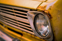 Retro Style Vintage Rusty Car Royalty Free Stock Photos