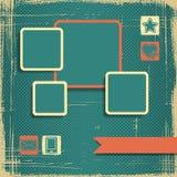 Retro Style Website Template. Vector design frame Royalty Free Stock Photos