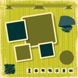 Retro Style Website Template. Vector design frame Stock Photos