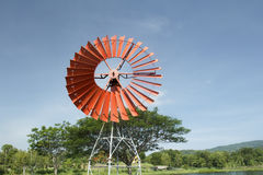 Retro style windmill Stock Photography