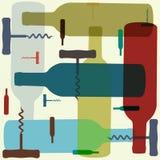 Retro style wine background Stock Photo