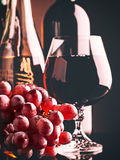 Retro style wine still life royalty free stock image