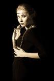 Retro style woman Royalty Free Stock Image