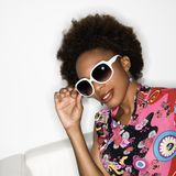Retro style woman Royalty Free Stock Photos