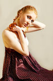 Retro style woman Royalty Free Stock Photo