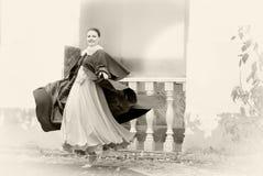 Retro style woman Stock Photos