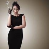 Retro style woman portrait Royalty Free Stock Photo